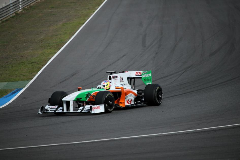 El Force India en Jerez (Jesús Mendoza ©)