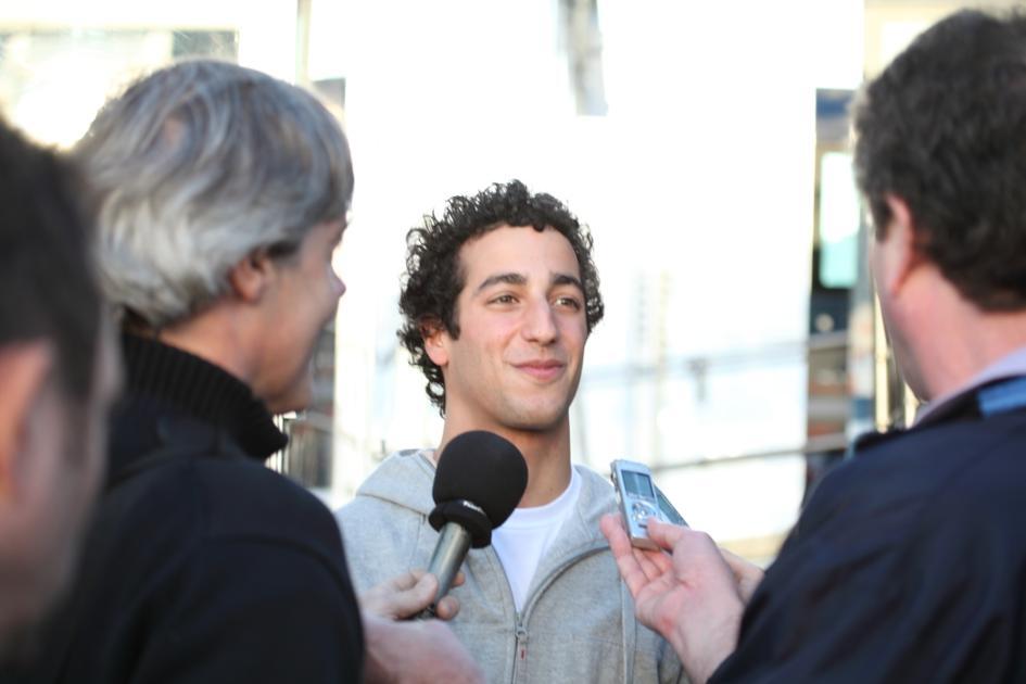 Ricciardo ante los medios (Jesús Mendoza ©)