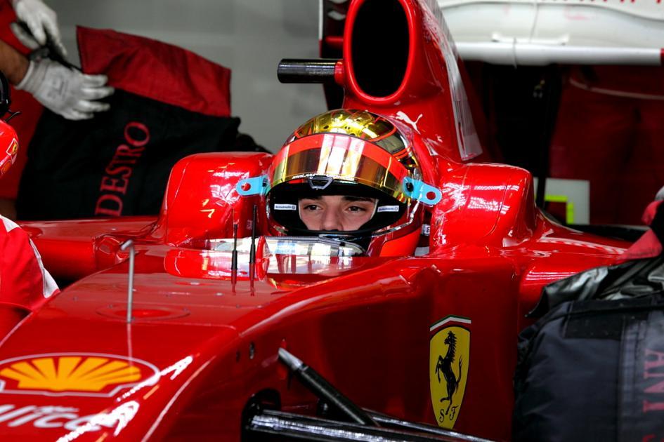 Jules Bianchi a bordo de un Ferrari en Jerez (Jesús Mendoza ©)