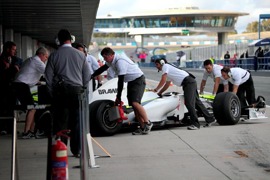 El equipo Brawn GP en acción (Jesús Mendoza ©)