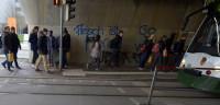 Los semáforos se pasan al suelo para los usuarios de smartphones