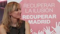 Tania Sánchez, ganadora de las primarias para encabezar la lista de IUCM
