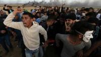 Miles de palestinos mantienen su protesta en acampadas cerca de la frontera entre Gaza e Israel