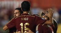 (5-1) España golea a Macedonia en el debut de Munir