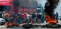 Protestas de camioneros cortan carreteras en once estados de Brasil