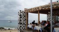 Restaurante La Laja, al borde del océano Atlántico