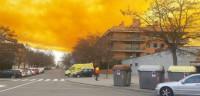 Nube tóxica en Simar de Igualada (Barcelona)