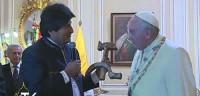 Morales dice temer un atentado contra el Papa