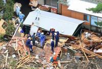 El paso del tifón 'Wipha' por Japón deja 14 muertos
