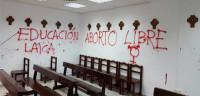 Realizan pintadas en la capilla de la Universidad Autónoma de Madrid