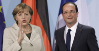 Hollande reitera ante Merkel su defensa del