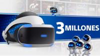 Playstation VR superan los 3 millones de unidades vendidas en todo el mundo