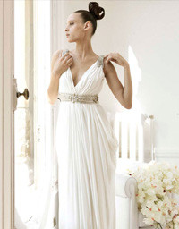 Vestido de novia en griego
