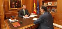 Felipe VI mantiene su primer despacho con Rajoy