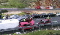 El granizo provoca la colisión de 50 turismos en Honrubia