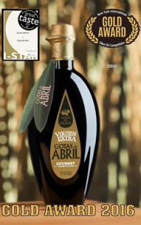 Gotas de abril, medalla de Oro en la 'New York Internacional Olive Oil competition'