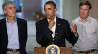 Obama visita a los familiares de las víctimas de la matanza