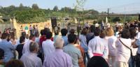 Los vecinos de Angrois recuerdan a las víctimas del accidente