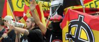 La manifestación ultra marca la previa de la final en el Calderón