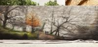 Artistas valencianos convierten una vía degradada en