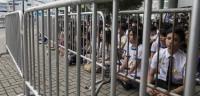 Estudiantes de instituto se unen a las protestas en Hong Kong