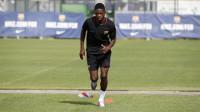 Dembélé se estrena con un primer entrenamiento muy físico
