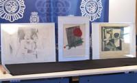 La Policía Nacional recupera en Málaga dos obras de Picasso y una de Joán Miró robadas en 2010