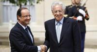 Monti y Hollande insisten en actuar rápido para defender la eurozona