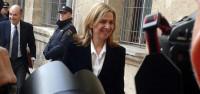 Cristina de Borbón llega ante grandes medidas de seguridad