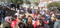 Concentración para reconstruir la vivienda derribada en Ofelia Nieto