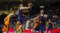 El Barça sufre hasta el último segundo para batir al Valencia Basket