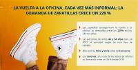 La vuelta a la oficina, cada vez más informal: la demanda de zapatillas crece un 229 %