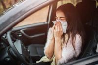 Así puede afectar la alergia primaveral a la conducción