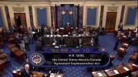 Senado de EE.UU. aprueba por votación el Tratado entre Estados Unidos, México y Canadá