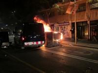 Los altercados de Barcelona acaban con la detención de cinco personal