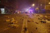 Calma tensa en la concentración de Burgos