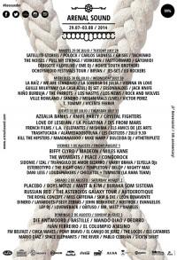 Cartel del Arenal Sound 2014