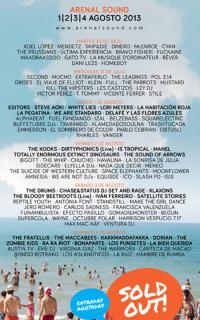 Arenal Sound 2013 completa su cartel