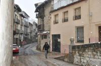 La nieve vuelve a Morella en el inicio de la Primavera