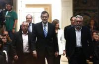 Rajoy se cita con los sindicatos en Moncloa con la Cumbre Europea de fondo