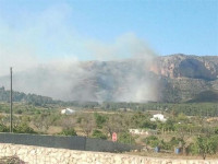 Controlado el incendio forestal de Dénia