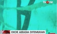 La cola del avión de AirAsia está muy dañada