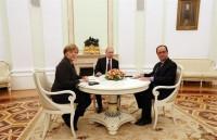 Putin, Merkel y Hollande se comprometen a trabajar en un plan conjunto