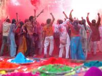 Ciudades españolas celebran el festival de colores Holi