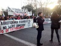 Estudiantes y profesores marchan en Madrid contra la reforma universitaria