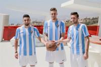 El Málaga presenta a Tighadouini, Cop y Albentosa