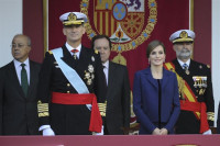 Los Reyes de España presiden el desfile militar por el Día de la Hispanidad
