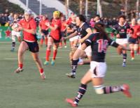 La selección española femenina de rugby barre a Hong Kong en un amistoso