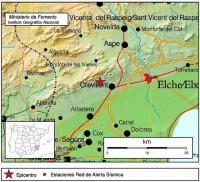 Registrado un terremoto de 3,4 grados en Crevillent