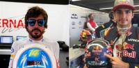 Alonso y Sainz recuerdan a Luis Salom en sus cascos